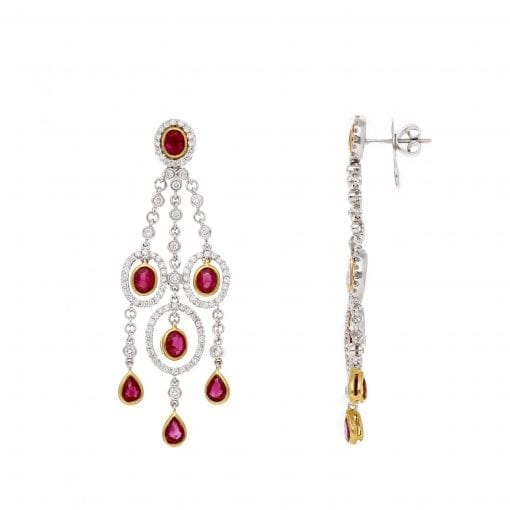 Vintage Gemstone Earrings<br>Style #: PD-LQ4016E