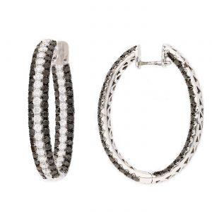Modern Black Diamond EarringsStyle #: PD-LQ4819E