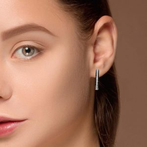 Modern Black Diamond EarringsStyle #: PD-LQ5577E
