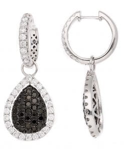 Modern Black Diamond EarringsStyle #: PD-LQ6235E