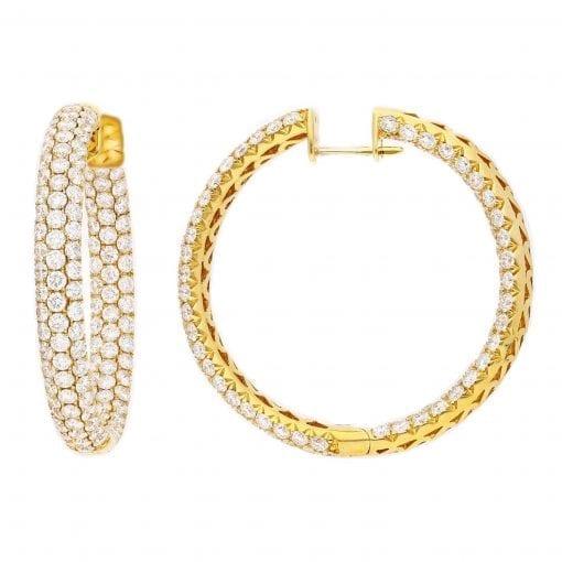 Classic Diamond Earrings<br>Style #: PD-LQ6485E