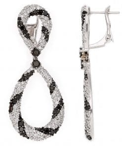 Modern Black Diamond EarringsStyle #: PD-LQ6818E
