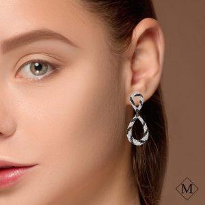 Modern Black Diamond EarringsStyle #: PD-LQ6818E