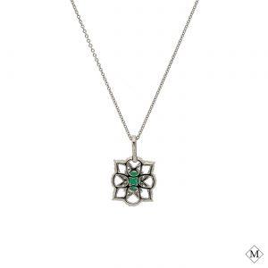 Unique Emerald PendantStyle #: PD-LQ6999P