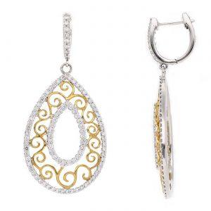 Vintage Diamond EarringsStyle #: PD-LQ8043E