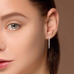 Classic Diamond EarringsStyle #: PD-LQ8163E