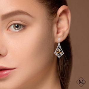 Vintage Yellow Diamond EarringsStyle #: PD-LQ8359E