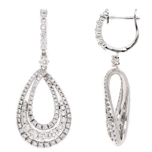 Classic Diamond Earrings<br>Style #: PD-LQ8592E