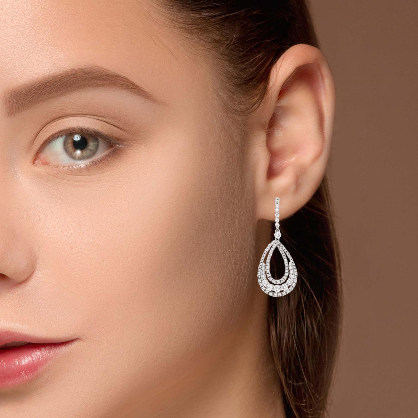 Classic Diamond EarringsStyle #: PD-LQ8592E