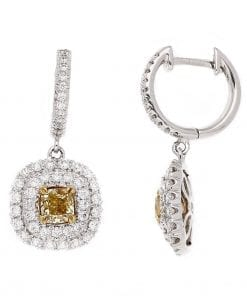 Modern Yellow Diamond EarringsStyle #: PD-LQ8997E