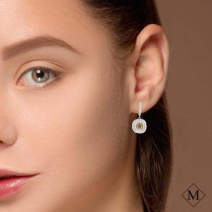 Modern Yellow Diamond EarringsStyle #: PD-LQ8997E