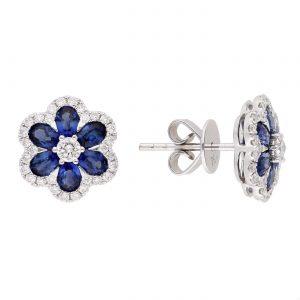 Floral Gemstone EarringsStyle #: PD-LQ9168E