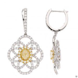 Modern Yellow Diamond EarringsStyle #: PD-LQ9351E