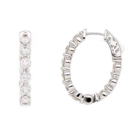 Classic Diamond Earrings<br>Style #: PD-LQ9537E