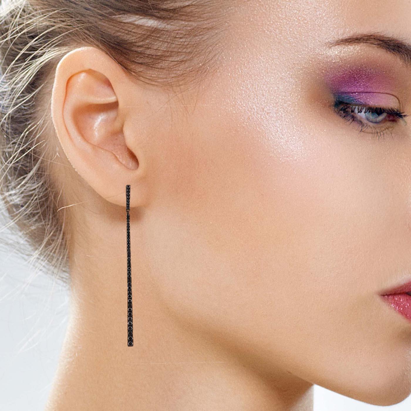 Unique Black Diamond EarringsStyle #: PD-LQ9624E