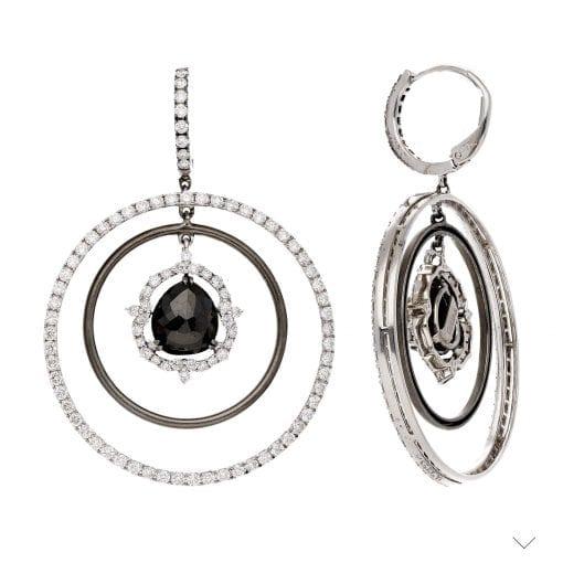 Unique Black Diamond EarringsStyle #: PD-231E