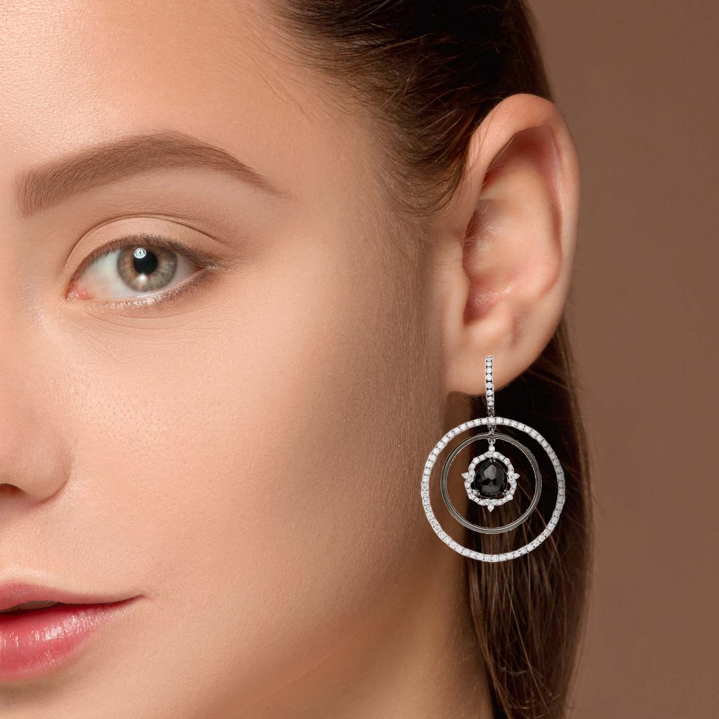 Unique Black Diamond EarringsStyle #: PD-231E