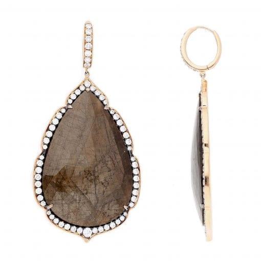 Unique Sapphire Earrings<br>Style #: PD-S289E