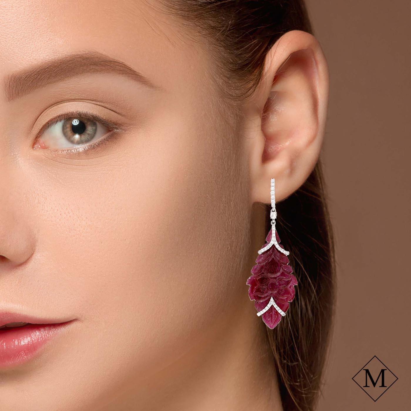 Unique Ruby EarringsStyle #: PD-S364E