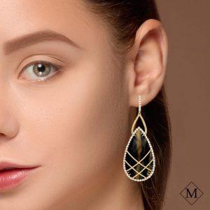 Unique Sapphire EarringsStyle #: PD-370E