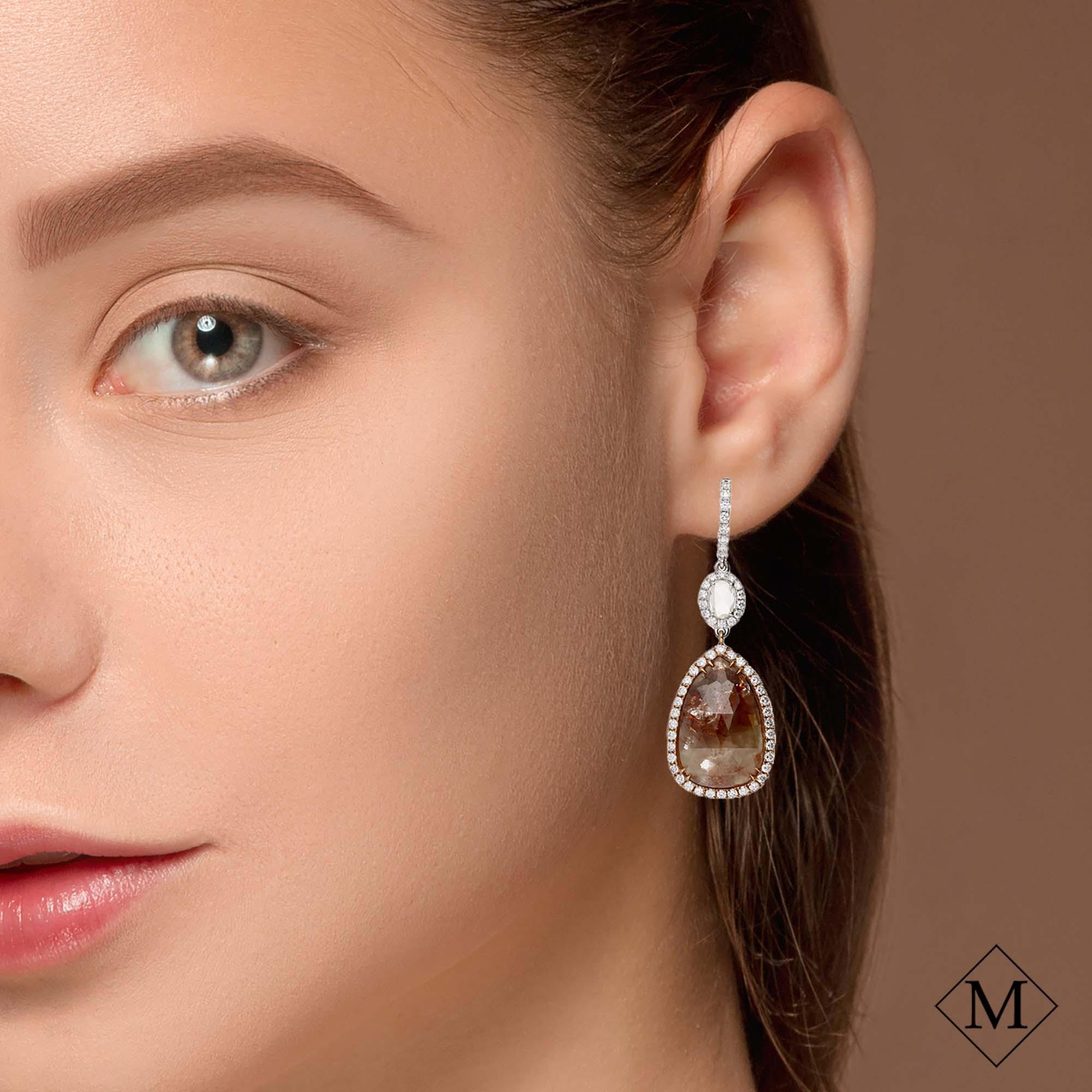 Unique Fancy Diamond EarringsStyle #: PD-S412E