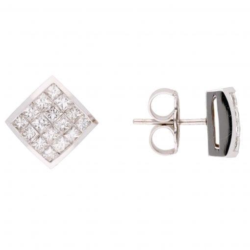 Modern Diamond Earrings<br>Style #: UDE-02340
