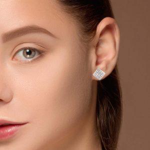 Modern Diamond EarringsStyle #: UDE-02340