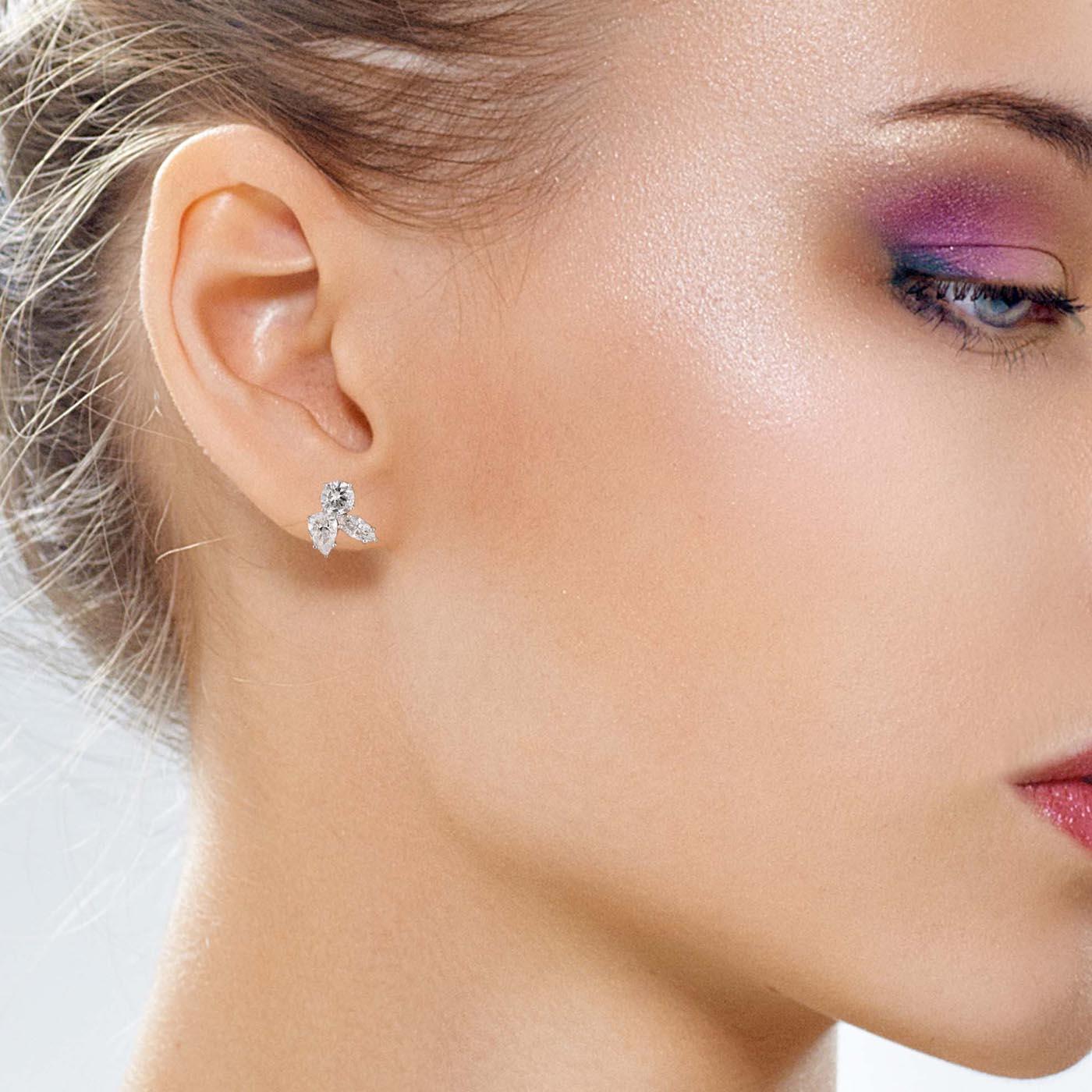 Vintage Diamond EarringsStyle #: UDE-07239