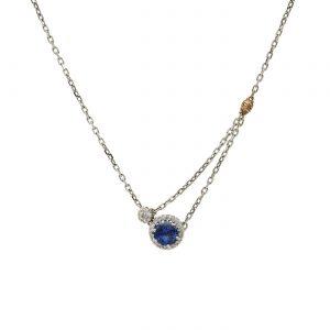 Unique Sapphire Pendant Style #: AN-1993