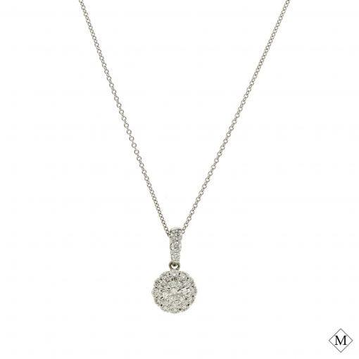 Classic Diamond  Pendant<br>Style #: MDPND9991