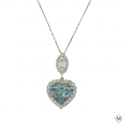 Classic Blue Diamond Pendant<br>Style #: MDPND9993