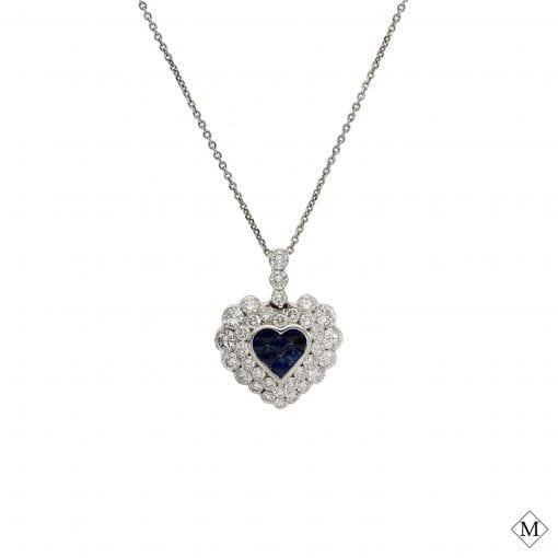 Unique Sapphire Pendant<br>Style #: PD-513P