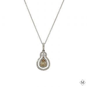 Classic Brown Diamond PendantStyle #: PD-LQ7054P