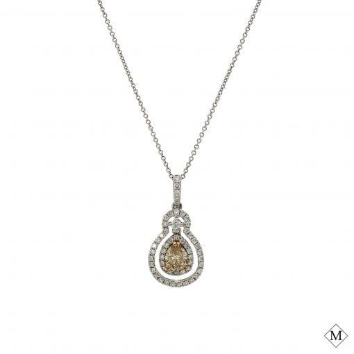 Classic Brown Diamond Pendant<br>Style #: PD-LQ7054P