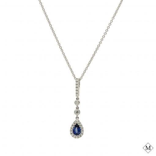 Classic  Sapphire Pendant<br>Style #: PD-LQ7056P