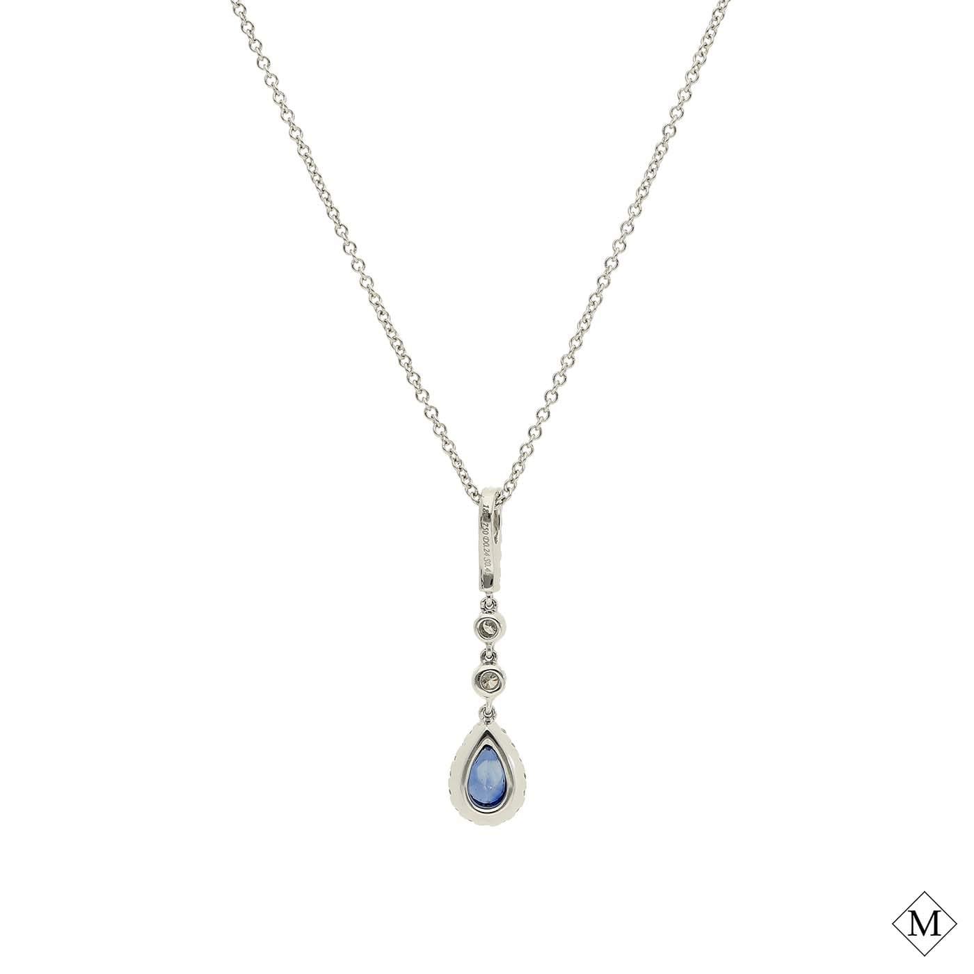 Classic  Sapphire PendantStyle #: PD-LQ7056P