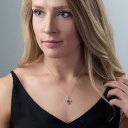 Modern Brown Diamond Pendant<br>Style #: PD-LQ7487P
