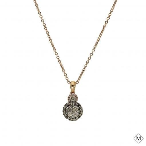 Classic  Brown Diamond Pendant<br>Style #: PD-LQ7635P
