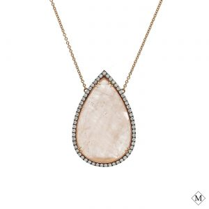 Unique Rose Quartz PendantStyle #: PD-S291N