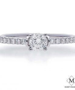 Pave Diamond Engagement RingsStyle #: 2000