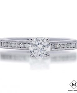 Channel Diamond Engagement RingsStyle #: FPA10E