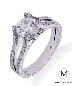 Filigree Diamond Engagement RingsStyle #: MD-00008