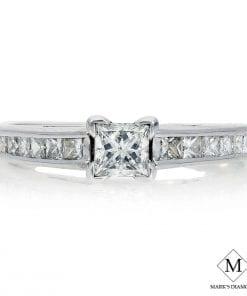 Princess Diamond Engagement RingsStyle #: MH-ER033