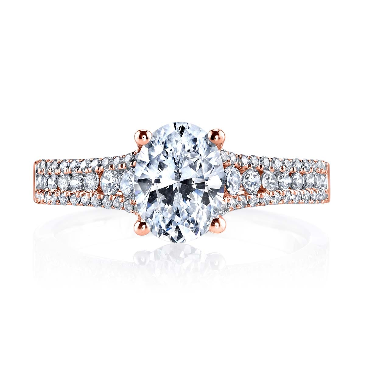 e02c3dcb2348 Pave Side-Stone Engagement rings: MARKS-25478-14KR   Shop Engagement ...