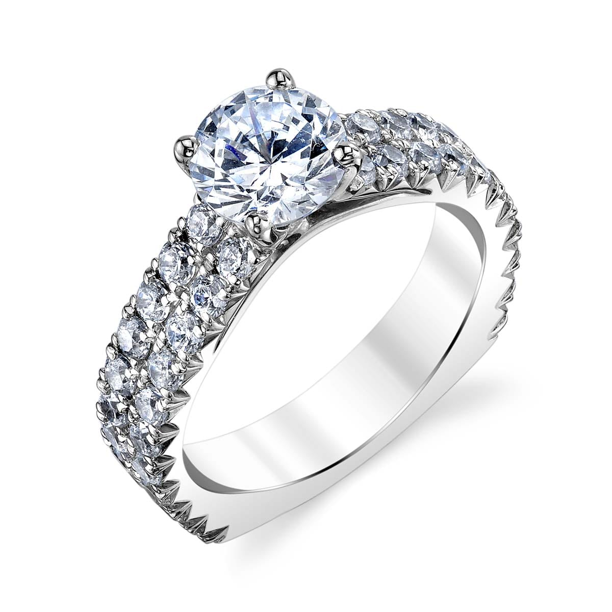 Pave Engagement Rings: MARKS-26163-18KW