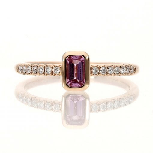 Glam Pink Sapphire Fashion RingStyle #: MARS-26979