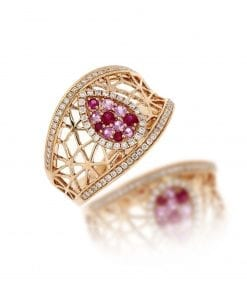 Modern Diamond Fashion RingStyle #: MH-RING-PinkSapp