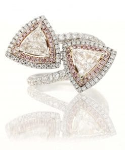 Modern Pink Diamond Fashion RingStyle #: MID-JW-RING-TRI-001