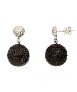 Contemporary Black Diamond  EarringsStyle #: PD-76480