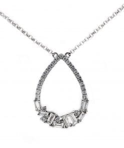 Simple Baguette Diamond PendantStyle #: PD10121112